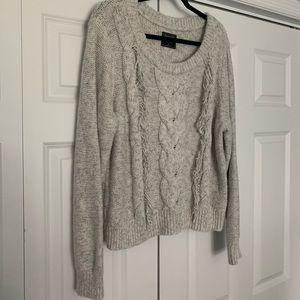 Abercrombie Boho Fringe Sweater